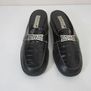 Brighton Slip On Loafer Black Embossed Leather 8.5
